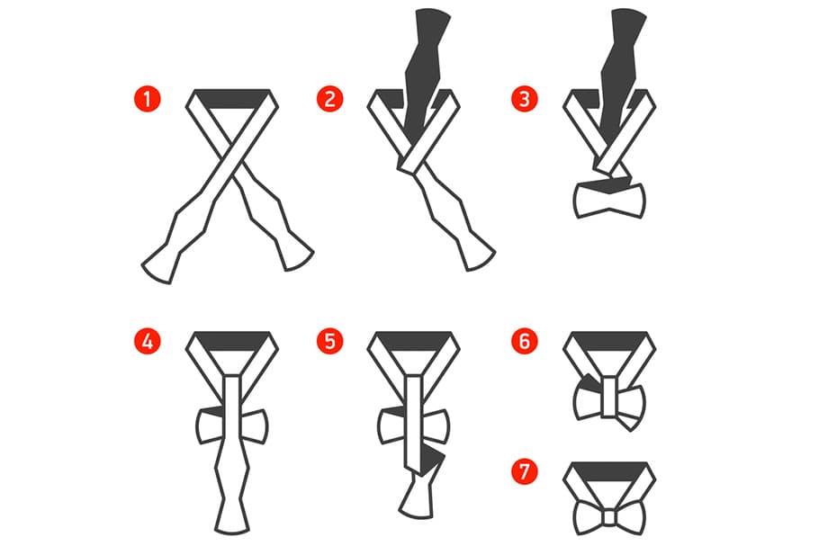 Завязать галстук из ленты своими руками 91