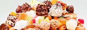 Кондитерские изделия, шоколад, мороженное