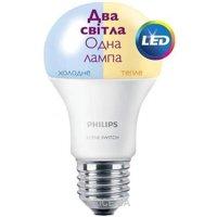 Фото Philips LED Scene Switch E27 9.5-60W 3000K/6500K 230V A60 (929001155937)