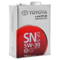 Фото Toyota MOTOR OIL SN 5W-30 4л