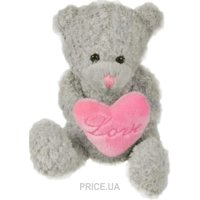 Фото Devilon Мишка серенький с сердечком 2 в ассорт. 15 см (042518)