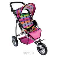 Фото Bino Трехколесная коляска для кукол большая (82912)