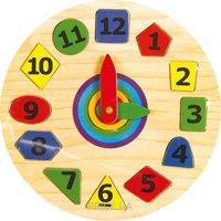 Фото Мир деревянных игрушек Часы Геометрия 2 (Р140)