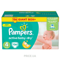 Фото Pampers Active Baby Maxi 4 (106 шт.)