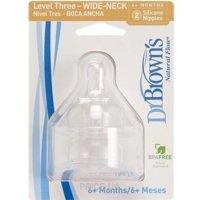 Фото Dr.Brown's Соска для бутылочки с широким горлышком Уровень 4, 2 шт (367)