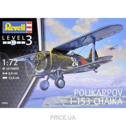 Фото Revell Самолет Polikarpov I-153 Chaika 1:72, (RV03963)