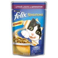 Фото Felix Sensations с уткой и шпинатом в желе 100 г