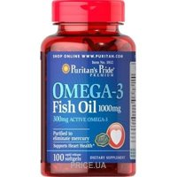 Фото Puritan's Pride Omega-3 Fish Oil 1000 mg 100 caps