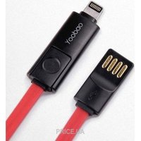Фото Yoobao Colourful micro & lightning cable red (YB407-RD)