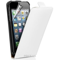 Фото Leaf Leather flip case for iPhone 5/5S white