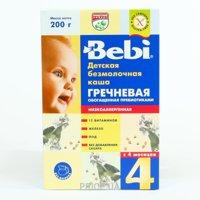 Фото Bebi Каша безмолочная Гречневая с пребиотиками 4 мес., 200 г