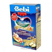 Фото Bebi Premium Каша молочная 3 злака с яблоком и ромашкой 200 г