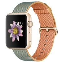 Фото Apple Watch Sport 42mm Gold Aluminum Case with Gold/Royal Blue Woven Nylon (MMFQ2)