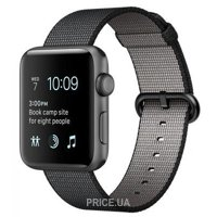 Фото Apple Watch Series 2 42mm Space Gray Aluminum Case with Black Woven Nylon Band (MP072)