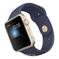 Фото Apple Watch Sport 42mm Gold Aluminum Case with Midnight Blue Sport Band