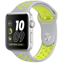 Apple Watch Nike+ 42mm Silver Aluminum Case with Silver/Volt Nike Sport Band (MNYQ2)