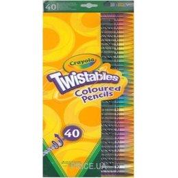 Фото Crayola 40 выкручивающихся карандашей Twistables (68-7411)