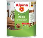 Фото ALPINA Лак Alpina Aqua Mobel глянцевый 0.75 л Пред