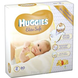 Фото Huggies Elite Soft 2 (80 шт.)
