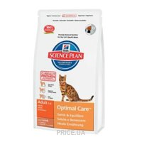 Фото Hill's Science Plan Feline Adult Optimal Care with Lamb 10 кг