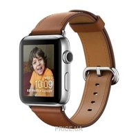 Фото Apple Watch Series 2 42mm Stainless Steel Case with Saddle Brown Classic Buckle Band (MNPV2)