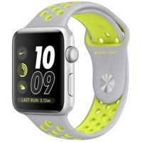 Фото Apple Watch Nike+ 42mm Silver Aluminum Case with Silver/Volt Nike Sport Band (MNYQ2)