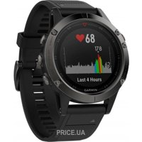 Фото Garmin Fenix 5 Sapphire Performer Bundle Black With Black Band (010-01688-32)