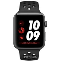 Фото Apple Watch Series 3 Nike+ (GPS) 38mm Space Gray Aluminum w. Anthracite/BlackSport B. (MQKY2)