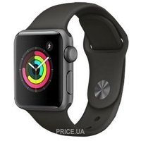 Фото Apple Watch Series 3 (GPS) 42mm Space Gray Aluminum Case with Gray Sport Band (MR2X2)