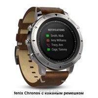 Фото Garmin Fenix Chronos Steel with Vintage Leather Watch Band (010-01957-00)