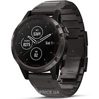 Фото Garmin Fenix 5 Plus Sapphire, Carbon Gray DLC Titanium with DLC Titanium Band (010-01988-02)