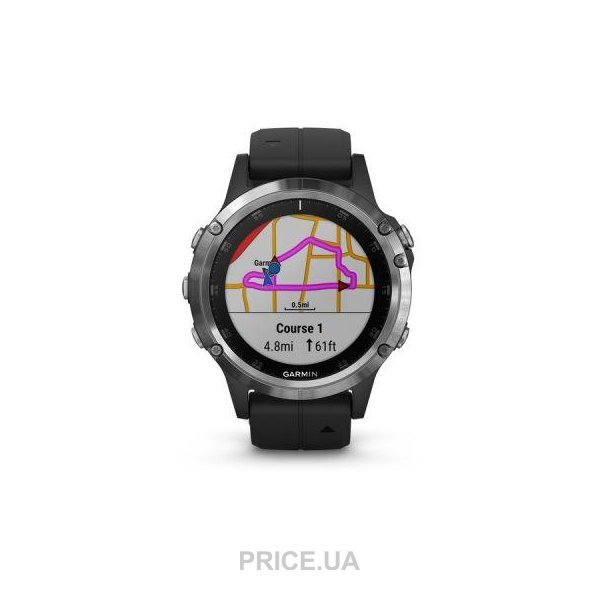 Garmin Fenix 5 Plus Silver with Black Band (010-01988-10)  Купить в ... 65bb64e7afb5e