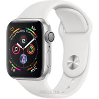 Фото Apple Watch Series 4 (GPS) 44mm Silver Aluminum Case with White Sport Band (MU6A2)