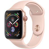 Фото Apple Watch Series 4 (GPS + Cellular) 44mm Gold Aluminum Case with Pink Sand Sport Band (MTV02)