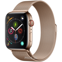 Фото Apple Watch Series 4 (GPS + Cellular) 40mm Gold Stainless Steel Case with Gold Milanese Loop (MTUT2)
