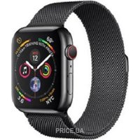 Фото Apple Watch Series 4 (GPS + Cellular) 44mm Space Black Stainless Steel Case with Space Black Milanese Loop