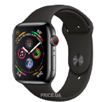 Фото Apple Watch Series 4 (GPS + Cellular) 40mm Space Black Stainless Steel Case with Black Sport Band (MTUN2)
