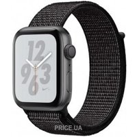 Фото Apple Watch Nike+ Series 4 GPS 40mm Gray Alum. w. Black Nike Sport l. Gray Alum. (MU7G2)
