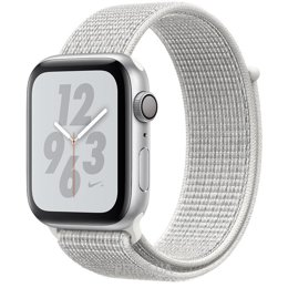 Apple Watch Nike+ Series 4 GPS 40mm Silver Alum. w. Summit White Nike Sport l. Silver Alum. (MU7F2)