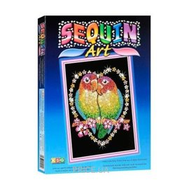 Sequin Art BLUE Love Birds (SA1002)